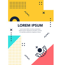 dotted and figure memphis form geometric artistic vector image