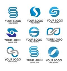 Elegant letter s logo eps 10 vector