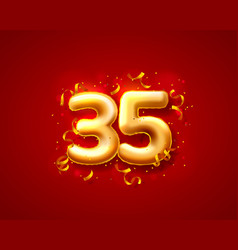 Festive ceremony balloons 35th numbers balloons vector