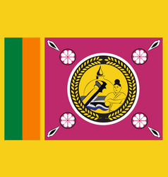 Flag north central province is a province of vector