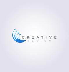 Four arrows point up design clipart symbol logo vector