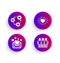 friends community love mail and heart icons set vector image