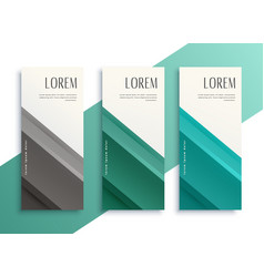 Geometric business style vertical banners set vector