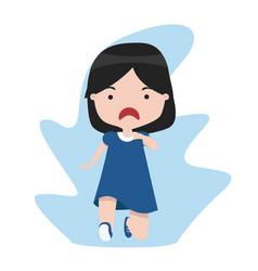 girl running cartoon flat vector image