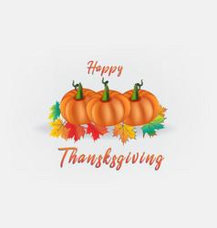 happy thanksgiving pumpkins card vector image