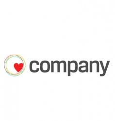 heart care charity logo vector image
