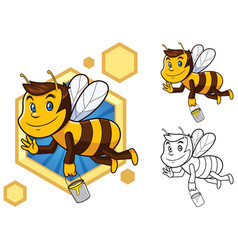 honey bee mascot vector image