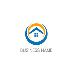 House roof realty design company logo vector