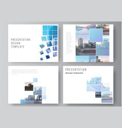 Layout presentation slides design vector