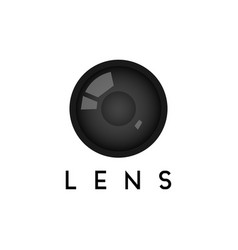 lens graphic design template isolated vector image
