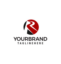letter r logo design concept template vector image