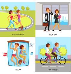 lifestyle people 2x2 compositions vector image