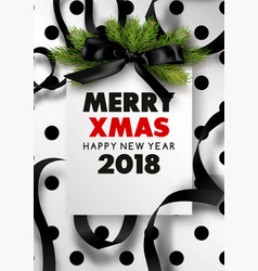 Merry xmas and happy new year 2018 stylish vector