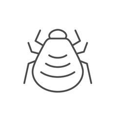 mite or tick line outline icon vector image