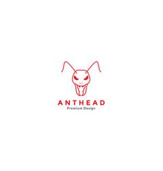 Modern line ant head logo icon symbol graphic vector