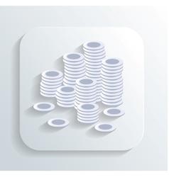 money coins icon vector image
