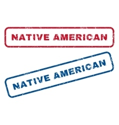 Native American Rubber Stamps vector
