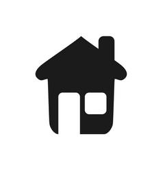 Nice house with window and door vector