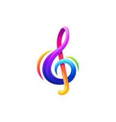 note music logo design vector image