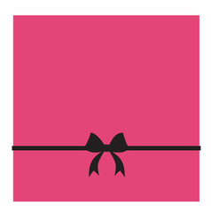 Pink box and black bow vector image