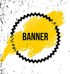 Poster With Speech Bubble Yellow background vector image