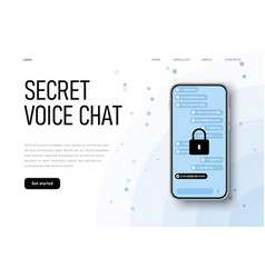 Protected voice chat sercret conversation vector