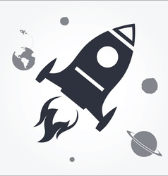 Rocket Launch Icon vector image vector image