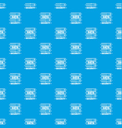 server data security pattern seamless blue vector image
