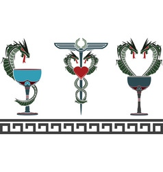 set of fantasy medical and pharmacy symbols vector image