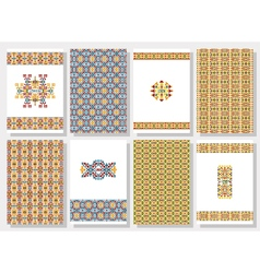 Set of tribal invitation cards vector image