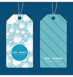 Shiny diamonds vertical round frame pattern tags vector