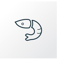 shrimp icon line symbol premium quality isolated vector image