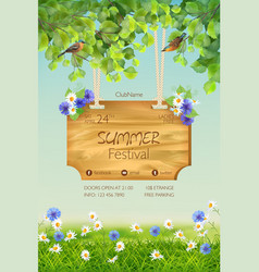 Summer poster template vector