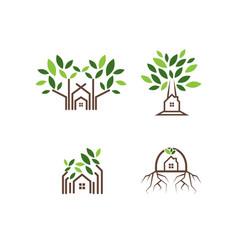 tree house logo design template vector image
