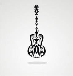 Tribal Guitar vector