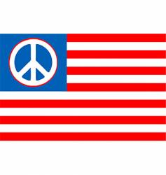 usa peace flag vector image