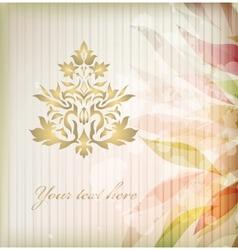 Vintage floral damask ornament vector image