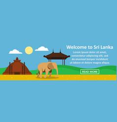 Welcome to sri lanka banner horizontal concept vector