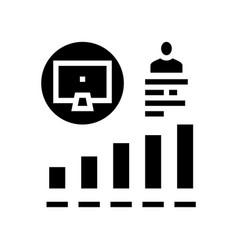Worker growing indicators glyph icon vector