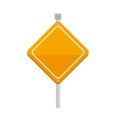 yellow sign caution triangle icon vector image
