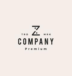z letter people team family hipster vintage logo vector image