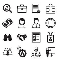 Job icon set vector