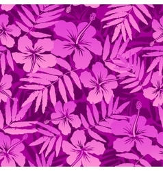 Pink tropical flowers seamless pattern vector image vector image