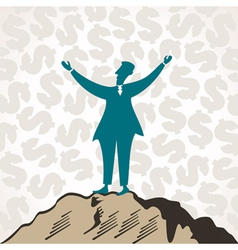 successful businessmen celebrate success vector image vector image