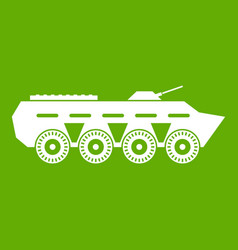 army battle tank icon green vector image