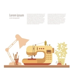colorful sewing machine vector image vector image