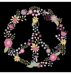 flower peace vector image
