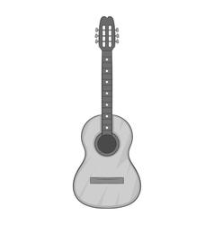 Guitar icon gray monochrome style vector image vector image