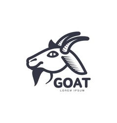 Side view goat head logo for meat and dairy vector