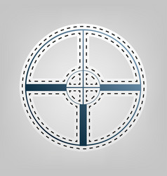 sight sign blue icon with vector image vector image